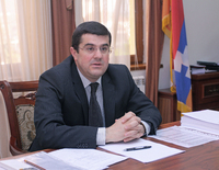 NKR Prime Minister Ara Haroutyunyan's congratulatory message to Hovik Abrahamyan