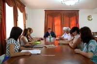 "Arayik Haroutyunyan received the employees of the ""Scientific Centre of Artsakh"""