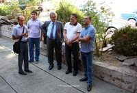 "Arayik Haroutyunyan became acquainted with the construction works of ""Tumo"" centre in Stepanakert"