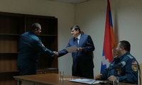 Arayik Haroutyunyan awarded a group of employees of the State Service of Emergency Situations