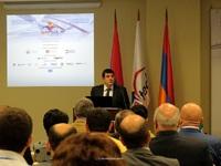 """Arayik Haroutyunyan made a speech at the 8th """"ArmTech Congress 2015"""""""
