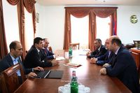 """Arayik Haroutyunyan received the delegates of the 8th """"ArmTech"""" congress"""
