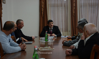 "Arayik Harutyunyan received a group of representatives of ""Afghanistan war veterans' union"""