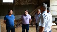 Arayik Harutyunyan got acquainted with the process of  grain purveyance