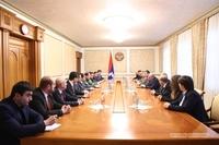 Встреча с делегацией правительства Республики Армения