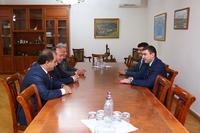 Государственный министр Республики Арцах принял делегацию, во главе с министром иностранных дел Республики Абхазия