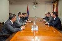 Сегодня Государственный министр принял делегацию,  возглавляемую  мэром г. Еревана