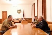 Встреча с начальником Генштаба Вооруженных сил Республики Армения Артаком Давтяном