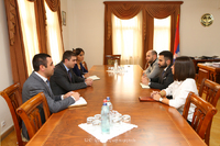 """State Minister received the delegation of """"Public relations and information center"""" SNCO"""