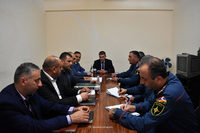Checking on civil protection readiness of the Agriculture Ministry