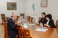 Государственный министр принял председателя статистического комитета Республики Армения