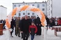 Президент присутствовал на церемонии открытия нового жилого квартала в городе Мартуни