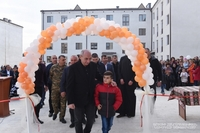 President was present at a ceremony of opening a new dwelling district in the town of Martouni