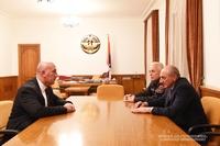 Встреча с исполняющим обязанности начальника полиции Армении Арманом Саркисяном