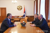 Meeting with acting director of the Armenian National Security Service Eduard Martirosyan