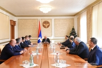 """Meeting with a group of employees of the """"Artsakh Energo"""" company"""
