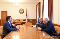 Meeting with minister of high-tech industry of the Republic of Armenia Hakob Arshakyan