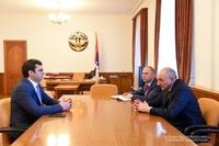 Встреча с министром высокотехнологической промышленности Республики Армения Акобом Аршакяном