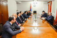 Grigory Martirosyan received the delegation headed by the minister of high-tech industry of the RA