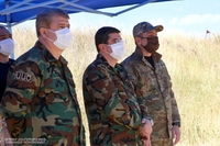 Arayik Harutyunyan was present at the anti-terrorist training exercise demonstrated by the Special Purpose Division of the National Security Service