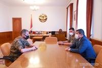 Artsakh Republic President Arayik Harutyunyan received head of the General Staff of the Republic of Armenia Armed forces Onik Gasparyan