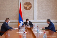 Large-scale projects on infrastructural development launch in the Kashatagh region. President Harutyunyan received the head of regional administration
