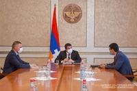 About 18 km long road leading from Vardenis-Martakert highway to Karvachar will be asphalted. The republic's President received the head of the regional administration
