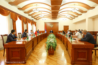 Grigory Martirosyan received the members of the professional working group adjunct to Artsakh Republic President