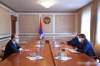 Arayik Harutyunyan received Foreign Minister of the Republic of Armenia Zohrab Mnatsakanyan