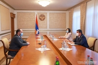 Artsakh Republic President Arayik Harutyunyan received RA Minister of Education, Science, Culture and Sports