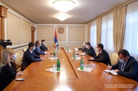 President Arayik Harutyunyan received the delegation headed by minister of Economy of the Republic of Armenia Tigran Khachatryan