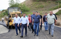 Asphalting of roads in Herher is being finished and those in the neighboring communities are being launched. President Harutyunyan visited some regions