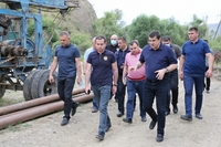 President Harutyunyan gave instructions on irrigation and house building issues in the region of Askeran