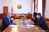 "President Harutyunyan received director of the ""Dari Ghoghanj"" foundation Arthur Hovhannisyan"