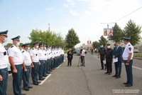 President Arayik Harutyunyan met a group of Traffic Police servicemen of the Artsakh Republic Police