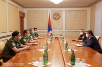 President Arayik Harutyunyan received the delegation led by head of the Penitentiary Service of the RA Ministry of Justice Arthur Goyunyan