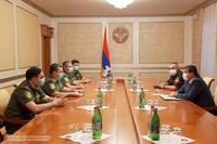 Араик Арутюнян принял делегацию, возглавляемую начальником уголовно-исполнительной службы МЮ Армении Артуром Гоюняном