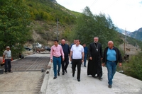 The asphalting of the Karvachar road has been launched, that of Harutyunagomer – finished. President Harutyunyan made a tour
