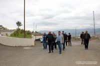 Президент Араик Арутюнян посетил территорию кладбища, расположенного в восточном квартале столицы