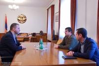 ԱՀ նախագահ Արայիկ Հարությունյանն ընդունել է ՀՀ Էկոնոմիկայի նախարար Վահան Քերոբյանին