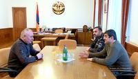 Президент Араик Арутюнян принял министра по чрезвычайным ситуациям Республики Армения Андраника Пилоняна