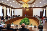 Arayik Harutyunyan met the Staff of the Ministry of Education, Science, Culture and Sports of the Republic of Artsakh