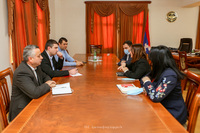 AR State Minister received the delegation  led by the Minister of Healthcare of the RA
