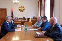 President of the Artsakh Republic Arayik Harutyunyan receives Armen Ghularyan chairman of urban development committee of the Republic of Armenia