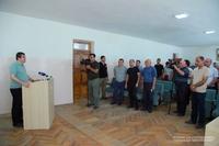 Президент Араик Арутюнян посетил город Мартуни и ознакомился с ходом проводимых там строительных работ