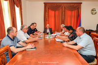 The State Minister discussed the issues of civil defence sphere