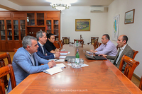 The State Minister discussed with the head of the ICRC mission the humanitarian programs implemented in Artsakh