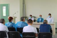 Государственный министр посетил Республиканский медицинский центр и встретился с медработниками