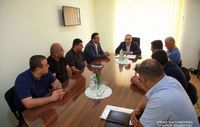 Chief of the Office of the Artsakh Republic President, introduced the newly appointed head of the structure to the staff of the Water Committee of the Republic of Artsakh