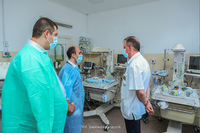 """""""We will spare no effort  for having  an effective healthcare system. """" Artak Beglaryan at the Stepanakert Center for Maternal and Child Healthcare"""